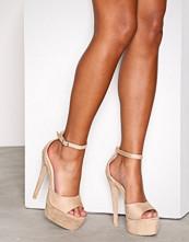NLY Shoes Beige Platform Stiletto Sandal