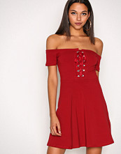 River Island Red Trim Skater Dress