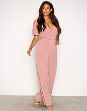 NLY One Blush Twist Back Jumpsuit