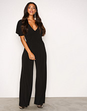 NLY One Svart Twist Back Jumpsuit