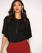 Filippa K Black Paige Square Draped Shirt