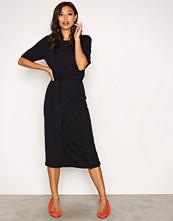 Filippa K Navy Double Wrap Jersey Dress