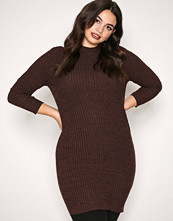 Jacqueline de Yong Mørk lilla Jdymei L/S High Neck Dress Jrs