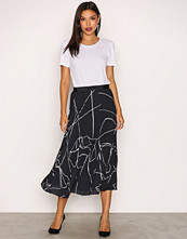 Filippa K Navy Plisse Skirt