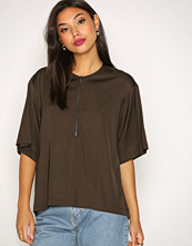 Filippa K Dark Paige Square Draped Shirt