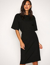 Filippa K Black High-Low Scuba Slit Skirt