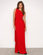 Lauren Ralph Lauren Red Lisa Mae Sleeveless Evening Dress