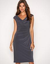 Lauren Ralph Lauren Grey Valli Cap Sleeve Day Dress