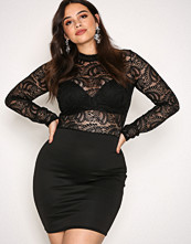 NLY One Svart Lace Top Dress