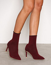 NLY Shoes Burgundy Slim Sock Boot