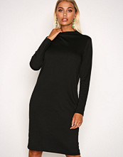 Vila Svart Vifaunas L/S High Neck Dress-Noos