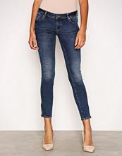 Vero Moda Mørk blå Vmfive Lw Ss Ankle Jeans AM211