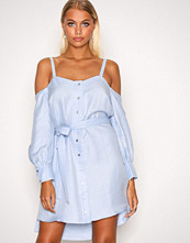 River Island Chambray Loose Cold Shoulder Dress