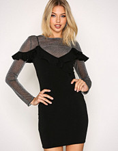 Motel Black Chaney Bodycon Dress