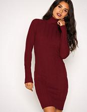 NLY Trend Wine Overfold Brush Rib Dress