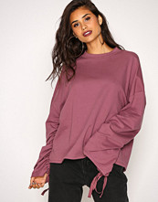 NLY Trend Lilla Wide Rouche Sleeve Sweat