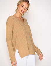 Polo Ralph Lauren Camel Long Sleeve V-Neck Sweater