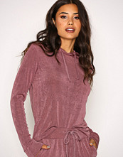 NLY Trend Rose Berry Glam Hoodie Set