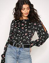 NLY Trend Mønstret Fancy Shoulder Blouse
