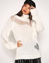 Glamorous White Distressed Knit