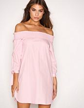 New Look Pink Poplin Bardot Dress