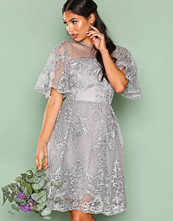 True Decadence Grey Lace Short Sleeve Dress
