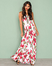 Missguided White Floral Print Maxi Dress