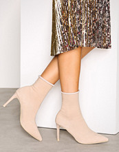 NLY Shoes Beige Slim Sock Boot
