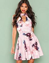 New Look Pink Floral Print Skater Dress