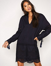 New Look Navy Cotton Cutout Tunic