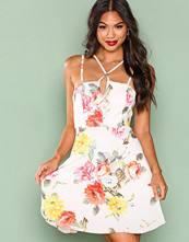 New Look White Strappy Skater Dress