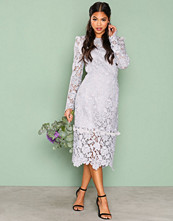 True Decadence Light Grey Lace Longsleeve Dress