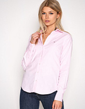 Gant Light Pink Stretch Solid Oxford Slim Shirt