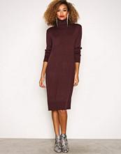 Jacqueline de Yong Mørk lilla Jdysilk L/S Plain Dress Knt Sky