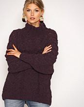 Selected Femme Mørk lilla Sfblair Ls Highneck Knit