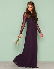 NLY Eve Plommefarge Whenever Lace gown