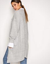 Moss Copenhagen Light Grey Melange Vogue Mohair Long Cardigan