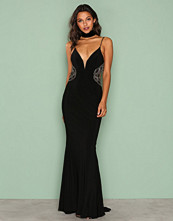 Forever Unique Black/Gold Myra Dress