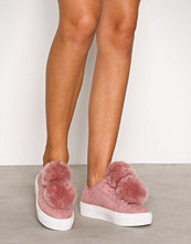 NLY Shoes Rosa Fuzzy Sneaker