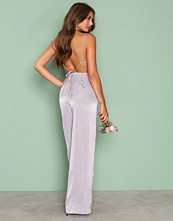 NLY Trend Grå Open Back Jumpsuit