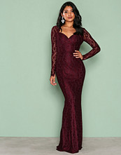 NLY Eve Plommefarge Mermaid LS Gown