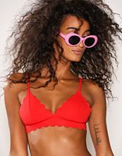 Missguided Red Scallop Bikini Top