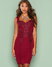 NLY One Burgundy Sweet Lace Dress