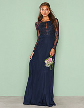 NLY Eve Navy Whenever Lace gown