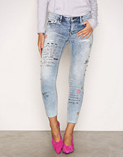 Odd Molly Mid Blue Groupie Cropped Jeans