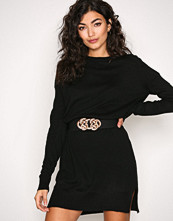 Object Collectors Item Svart Objvictoria L/S Knit Dress