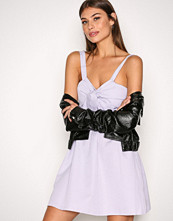 New Look Purple Twist Front Dress