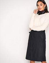 Filippa K Navy Double Wrap Skirt