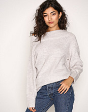 New Look Pale Grey Longline Bardot Jumper