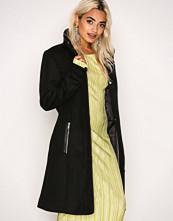 Vero Moda Svart Vmprato Rich 3/4 Wool Jacket Noos